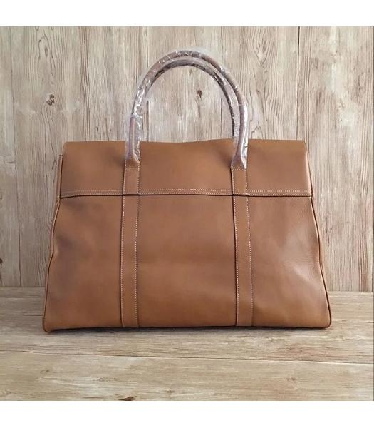 Mulberry Bayswater Light Coffee Plain Veins Leather 50cm Oversize Bag-6