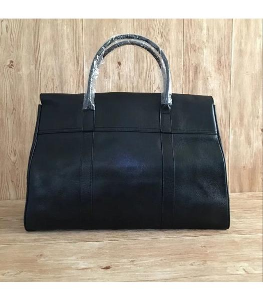 Mulberry Bayswater Black Plain Veins Leather 50cm Oversize Bag-3
