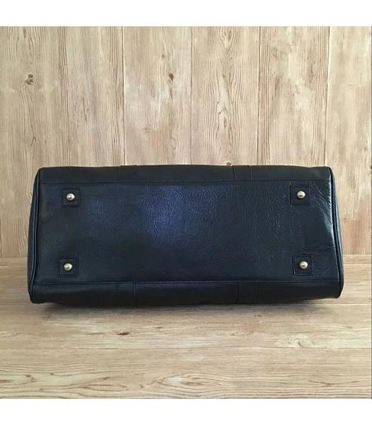 Mulberry Bayswater Black Plain Veins Leather 50cm Oversize Bag-5
