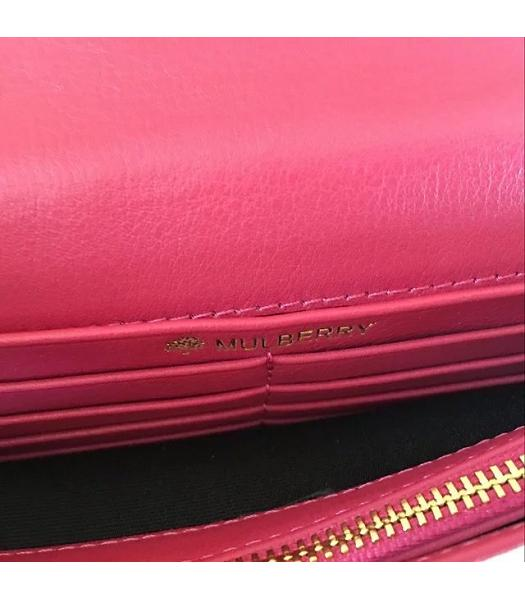 Mulberry Bayswater Clutch Peach Glossy Leather-1