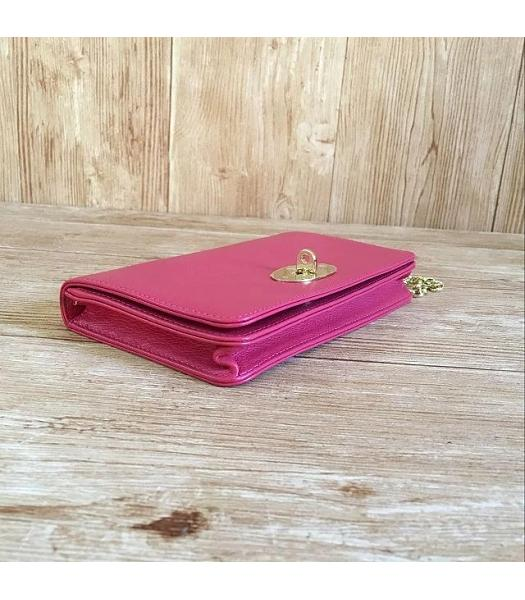 Mulberry Bayswater Clutch Peach Glossy Leather-2