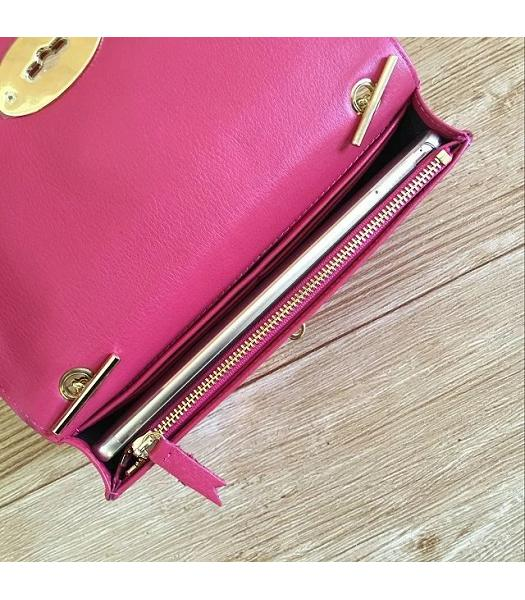 Mulberry Bayswater Clutch Peach Glossy Leather-4