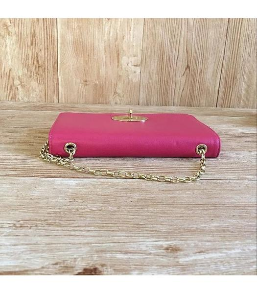 Mulberry Bayswater Clutch Peach Glossy Leather-5