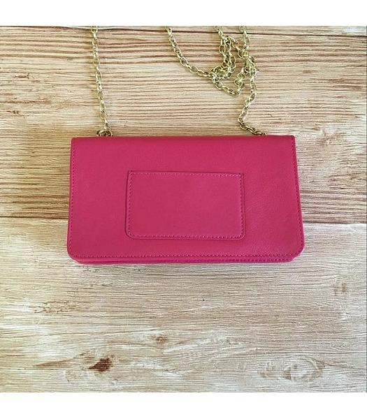 Mulberry Bayswater Clutch Peach Glossy Leather-6